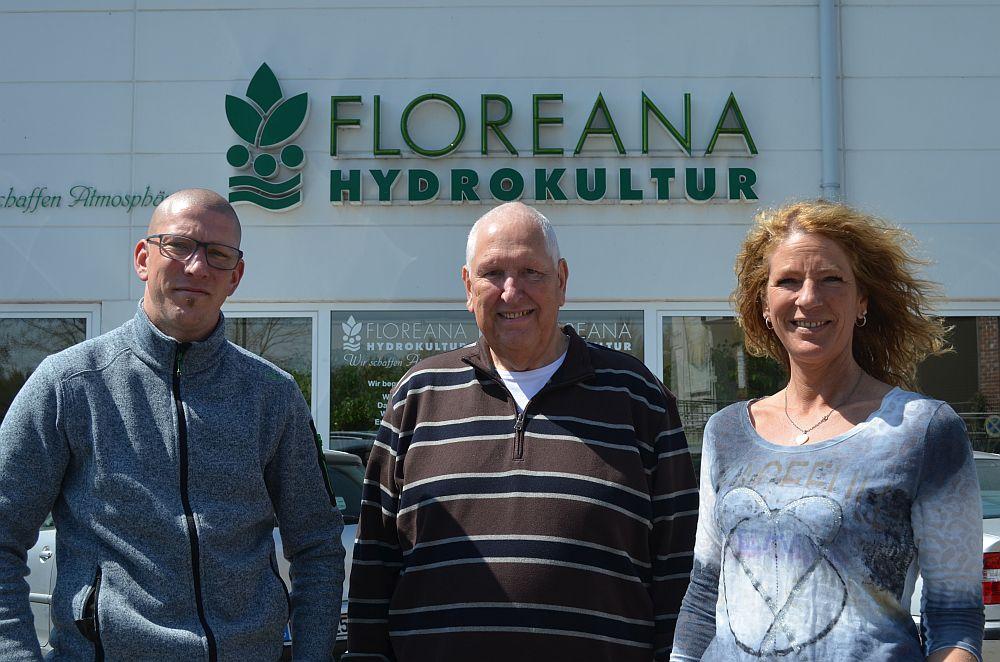 Floreana ist ein echter Familienbetrieb (v. l.): Alexander Schalle, Holger Schalle und Stefanie Schalle.