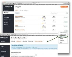 Serienmails mit Cleverreach: Import der Adressdaten