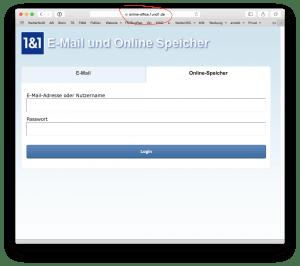 Datenaustausch: Anmeldung Online-Speicher