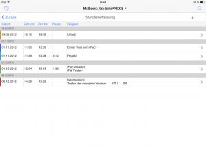 OOURS Go: Stundenerfassung iPad