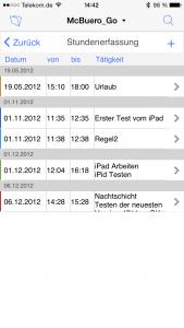 OOURS Go: Stundenerfassung iPhone