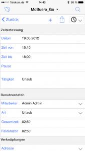 OOURS Go: Zeiterfassung iPhone