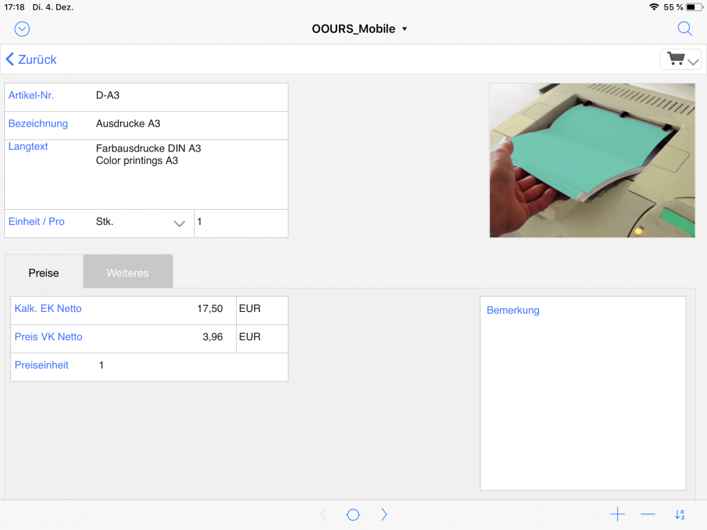 Artikeldetail iPad